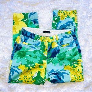 ☀️Lands End | Blue Green Floral Cropped Pants
